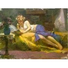 Reproduction tableau toile Pino019
