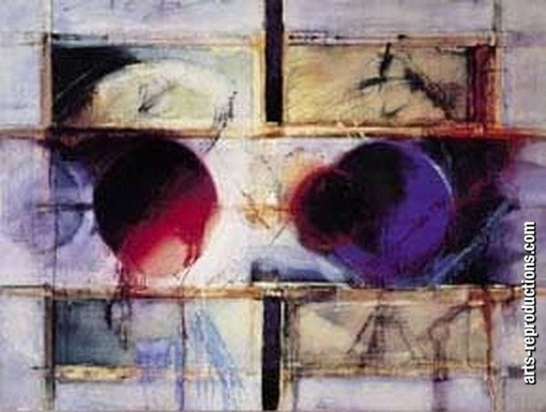 Reproduction tableau contemporain LY07abstract205