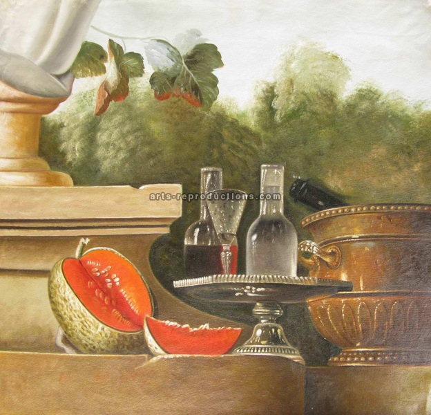 Nature Morte Vin et Melon