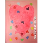 Tableau contemporain design La-Saint-Valentin