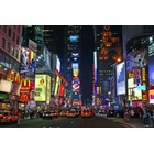 Toile peintre New york time square nuit