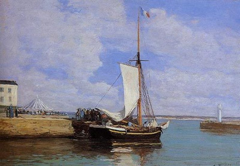 Reproduction toile de peintre boudin108