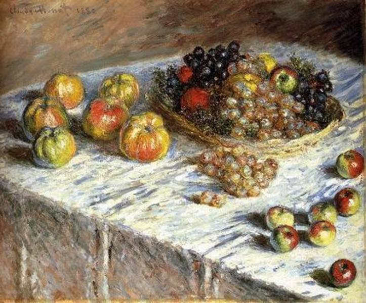 Nature morte aux raisins et de fruits