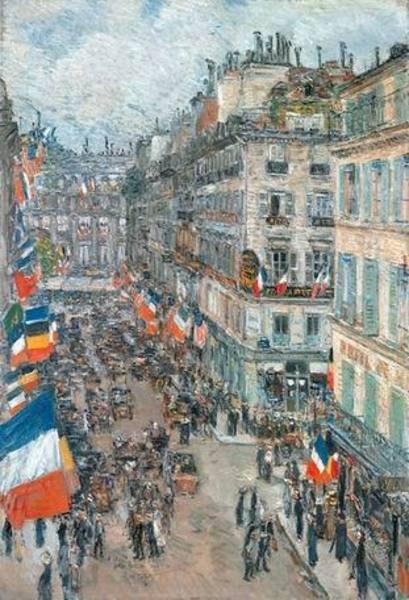 Reproduction tableau toile hassam017