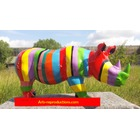 Statue animal en résine RHINOCEROS MM MULTICOLORE