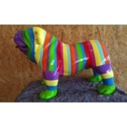 Statue animaux en résine BULLDOG BOULEDOGUE USA PM DEBOUT MULTICOLORE