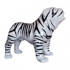 Sculpture animal en résine BULLDOG BOULEDOGUE USA GM DEBOUT ZEBRE