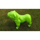 Sculpture animal en résine BULLDOG BOULEDOGUE USA GM DEBOUT MONOCHROME