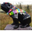 Statue animal en résine BULLDOG BOULEDOGUE USA GM ASSIS CRAVATE MULTICOLORE