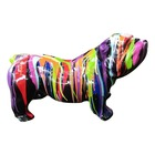 Sculpture animal en résine BULLDOG BOULEDOGUE ANGLAIS GM DEBOUT TRASH