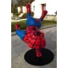 Sculpture animal en résine BULLDOG BOULEDOGUE ACROBATE SPIDERMAN