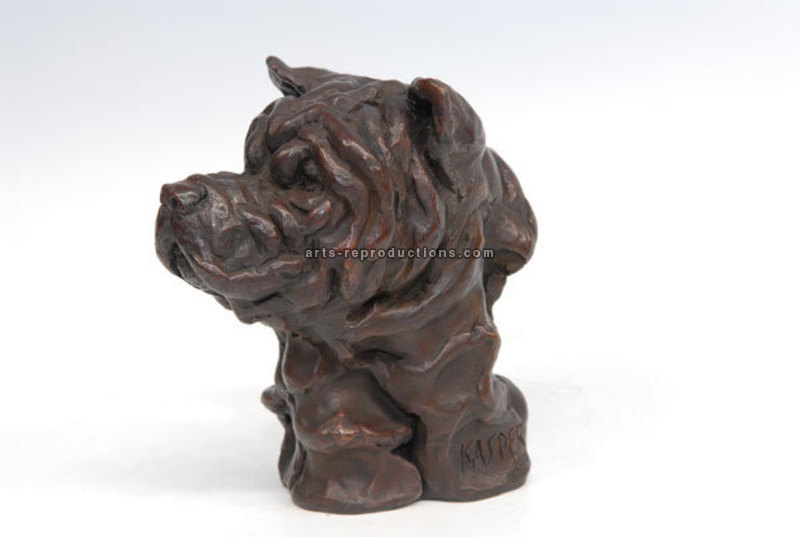 Sculpture d'art Statue en Bronze chien 2503200705