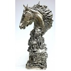 Sculpture d'art Statue en Bronze Triple couronne argent