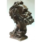Sculpture d'art Statue en Bronze Victor Hugo portrait