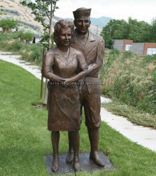 Statue Couple en Bronze