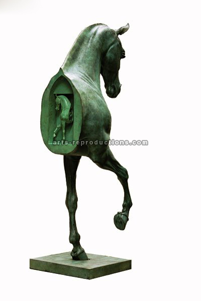 Sculpture d'art Statue en Bronze cheval infiniment