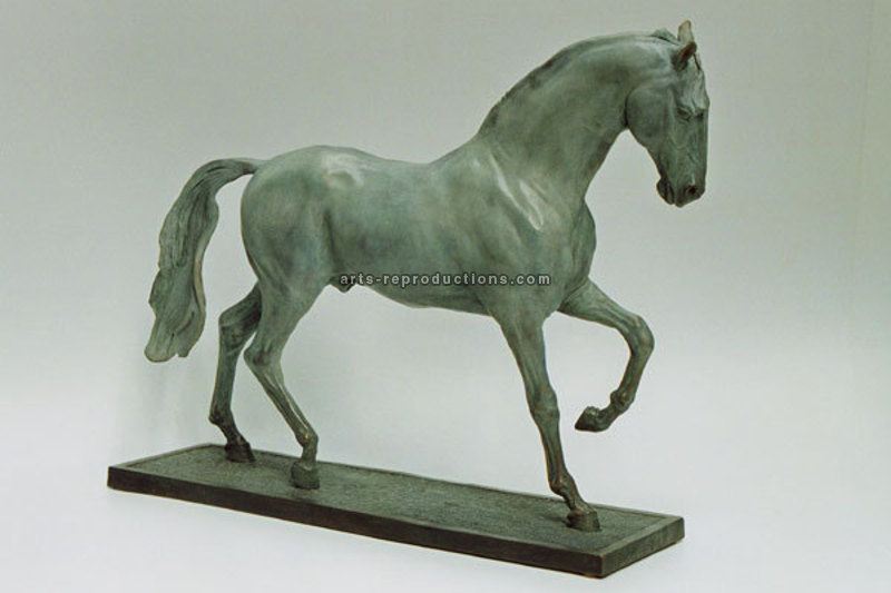 Sculpture d'art Statue en Bronze Cheval lusitanien 001