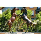Sculpture d'art Statue en Bronze Chevaux double 01
