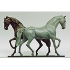Sculpture d'art Statue en Bronze Chevaux lusitanien 002