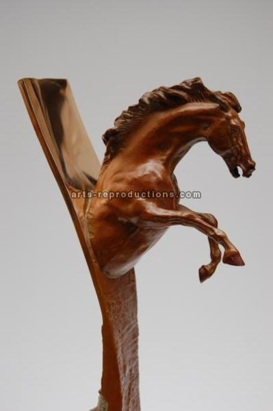 Sculpture d'art Statue en Bronze Epona